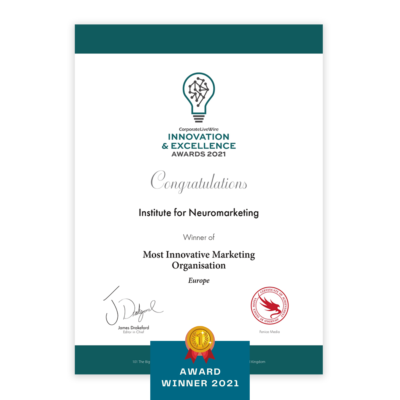 Innovation and exellence certificate